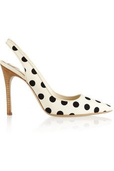 Katie Grand Loves Hogan Polka-dot canvas slingbacks | NET-A-PORTER