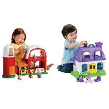 Little People® Happy Sounds Home™ + Animal Sounds Farm™ Set - Shop.Mattel.com