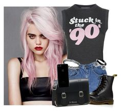 """- stands in front of the jukebox -"" by the-infinite-anons ❤ liked on Polyvore featuring Wildfox, Dr. Martens and Bling Jewelry"
