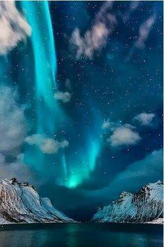 Blue Northern Lights, Iceland