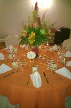 La decoración de otra de las mesas