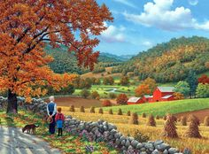 Я хочу построить дом возле леса, возле речки... Художник John Sloane