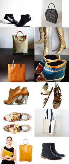 bags and boots  by jelena on Etsy--Pinned with TreasuryPin.com