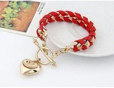 Love the red and gold Korean Jewelry, Jewelry Box, Handmade Jewelry, Bracelets, Red, Design Ideas, Projects, Friendship Bracelets, Bangle Bracelets