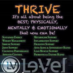 Want to know what it's like to wake up and NOT be tired? Then you need to Thrive me! http://ksauser.Le-Vel.com Call me so I can share my credits with you to get you started!! 281.773.4929