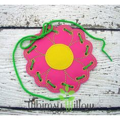 Flower Lacing Card