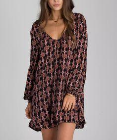 Love this Off Black Geometric Sweet Sands Dress by Billabong on #zulily! #zulilyfinds