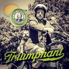 """""""TRIUMPH"""" brändist saadud inspiratsioon aitas luua tsiklimeestele sobiva vuntsivaha"""