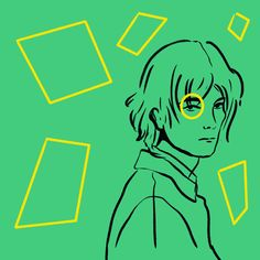 #abstractart #digitalart #illustration #comicart #stripes #man #color #comic #body #portrait #yellow #green #geometric #lionel #rectangles