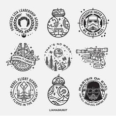 Thought I'd share some of the Star Wars designs I've done in the past for May the Which are your favourites? Star Wars Tattoo, Star Tattoos, Sleeve Tattoos, Tatoos, Game Tattoos, Family First Tattoo, Uñas Star Wars, Star Wars Logos, Design Tattoo