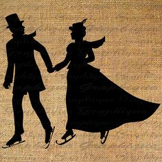 Couple Ice Skaters Silhouette Digital Collage Sheet by Graphique, $1.00  https://www.etsy.com/listing/168884331/couple-ice-skaters-silhouette-digital?utm_source=google&utm_medium=product_listing_promoted&utm_campaign=art_low&gclid=CISXmbyd6b0CFbTm7AodLAgA5Q