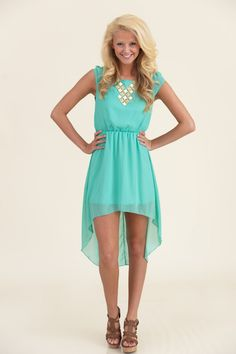 Simply Stunning Dress-Seafoam - Dresses | The Red Dress Boutique