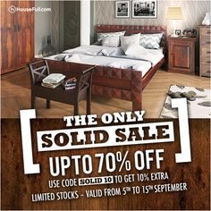 Bring home the finest solid wood furniture home with HouseFull's Solid Sale . Buy now http://www.housefull.com/