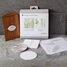 Lifestyle Crafts Letterpress Wooden Printing Plates: Gardenista- wiliam sonoma
