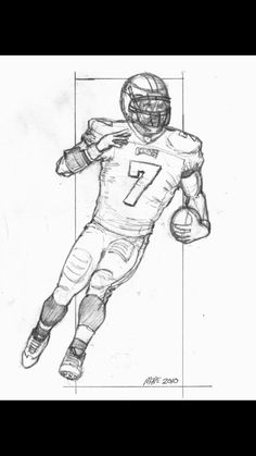 Sports drawing how to draw football players football player drawings sports drawing ideas . Drawing Sketches, Pencil Drawings, Art Drawings, Drawing Ideas, Sweet Drawings, Drawing Stuff, Sketching, American Football, Football Player Drawing