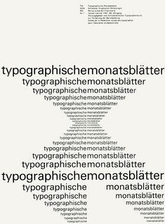Emil Ruder. Ho scelto questa immagine perchè mi piace l'effetto di tridimensionalità che si forma con il semplice accostamento di lettere di diverse dimensioni.