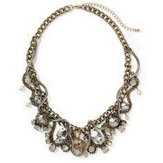 Sabine Vintage Statement Necklace ❤ liked on Polyvore featuring jewelry, necklaces, accessories, collares, resin necklace, statement collar necklace, vintage collar necklace, vintage jewelry and vintage jewellery
