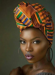 african beauty Whether you are having a bad hair day or not, there is no denying that you can add a touch of sophistication and mystery to your look with an African headwrap or gele. African Beauty, African Women, African Fashion, Ghana Fashion, African Head Wraps, Luge, Bad Hair Day, Model Photographers, Beautiful Black Women