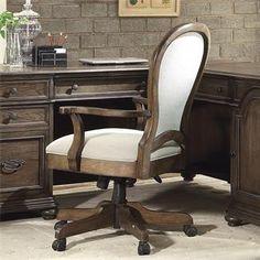 Belmeade Round Back Upholstered Desk Chair I Riverside Furniture