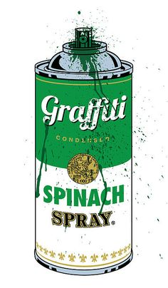 You gotta eat your spinach, baby #graffiti #nom
