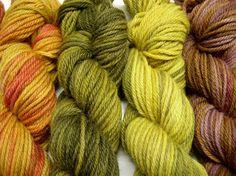 Värjääjän Päiväkirja: Kirjavia lankoja luonnonväreillä / Multicoured yarns with natural dyes