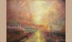 A sailing yacht approaches the Arts Joseph William Turner