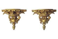 American Eagle Wall Brackets, Pair