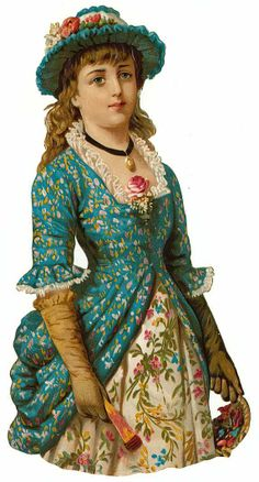 Victorian Scrap — Beautiful Lady  (574×1066)