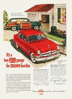 Vintage '50' Ford Forder Sedan Ad - 1950