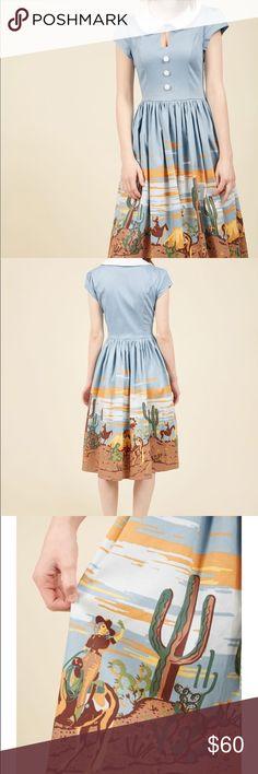 "Modcloth Hard at quirk dress Bust 18"", waist 15"" Modcloth Dresses"