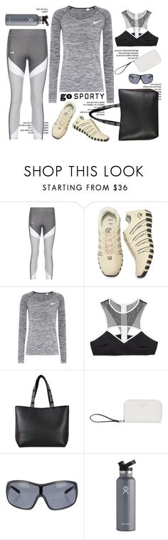 """Sweat Sesh: Gym Style"" by ysmn-pan ❤ liked on Polyvore featuring Reverie, NIKE, This Is a Love Song, Kenzo, Fiorelli, Prada Sport, Hydro Flask, contest and sweatsesh"