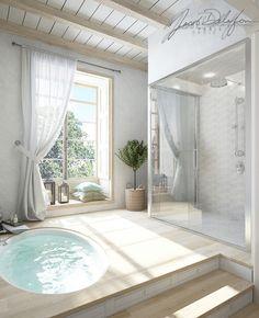 Немного солнца в прохладной воде - Ванная комната 3D – Комфорт & Стиль | PINWIN - конкурсы для архитекторов, дизайнеров, декораторов