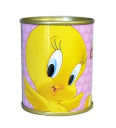Tweety bird can with olives