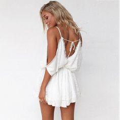 Lace Patch Deep V-Neck Backless Dress – Lupsona