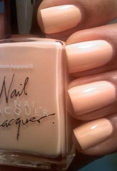 Love the color...American Apparel Nail Polish...Summer Peach