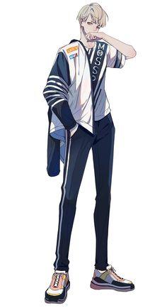 Kind of street style I think. Anime Boys, Cool Anime Guys, Handsome Anime Guys, Cute Anime Boy, Manga Boy, Anime Art Girl, Yandere Anime, Manga Anime, Bts Art
