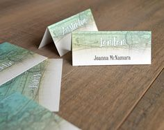Travel Themed Guest Seating Cards With Names-Table Tent