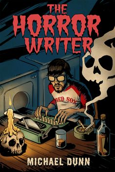 The Horror Writer novel cover by licarto. An illustrated pulp style creates a spooky book cover. Halloween Designs, Horror Books, Scary Movies, Book Cover Design, Dark Side, Creepy, Writer, Novels, Illustration