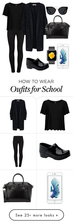 """""""Back To School 1 """" by destinyfaith1207 on Polyvore featuring Dansko, J Brand, Topshop, Givenchy and Quay"""