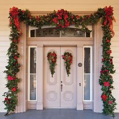 """""""Drape your front door in #holiday cheer to welcome the season! #PorchPictureThursday"""""""