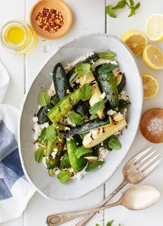 Factors You Need To Give Thought To When Selecting A Saucepan Learn How To Grill Zucchini With This Easy Recipe I Love To Serve It With Lemony Greek Yogurt, Fresh Herbs, And Feta For A Simple, Elevated Summer Side Dish. Love And Lemons Healthy Recipes, Salad Recipes, Healthy Snacks, Vegetarian Recipes, Vegetarian Grilling, Healthy Grilling, Zoodle Recipes, Snacks Recipes, Delicious Recipes