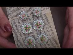 Beginner Simple Circle Earrings with Polymer Clay - YouTube Polymer Beads, Polymer Clay Earrings, Clay Tutorials, Beading Tutorials, Work Search, Polymer Clay Embroidery, Clay Videos, Polymer Clay Projects, Clay Flowers
