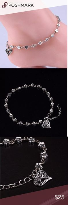 Silver plated anklet, foot jewelry Adorable anklet Jewelry