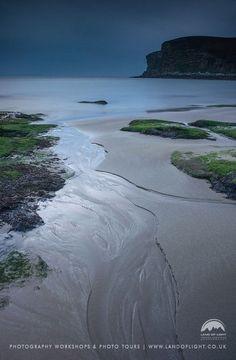 Peedy Sands at Dusk, Caithness in Scotland