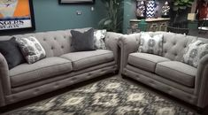 Welcome to Discover Furniture! This video offers an in-depth look at the Azlyn Sepia Tufted Sofa and Loveseat from Ashley Furniture. Ashley Furniture Sofas, Couch Furniture, Cheap Furniture, Furniture Logo, Rustic Furniture, Antique Furniture, Wallpaper Furniture, Outdoor Furniture, Furniture Ideas