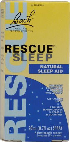 Bach Flower Remedies Rescue Sleep Natural Sleep Aid  This is a great herbal natural remedy and works great!  They have other good products too!