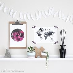 Friday night #shelfie goodness with these fab prints by @thelittlethings_design. How cool are they? #whitefoxstyling