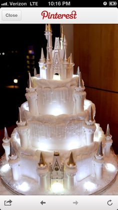 Princess castle wedding cake