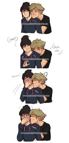 Adrien you Chat Noir is showing...