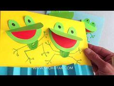 children activities, more than 2000 coloring pages Frog Crafts Preschool, Kindergarten Crafts, Classroom Crafts, Craft Activities For Kids, Animal Crafts For Kids, Paper Crafts For Kids, Toddler Crafts, Book Crafts, Kids Art Class